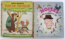 Little Golden Book Lot UNCLE REMUS Noises and Mr Flibberty Jib Walt Disney