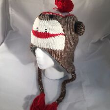 item 2 SOCK MONKEY Gray WINTER FLEECE LINED KNIT HAT 1 sz Beanie Cap YOUTH  TO ADULT -SOCK MONKEY Gray WINTER FLEECE LINED KNIT HAT 1 sz Beanie Cap  YOUTH TO ... 2d529e8f8f80