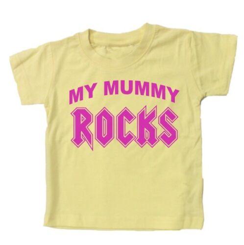 Funny lema Kids Regalo millones de EUR mi momia rocas Bebé T Shirt
