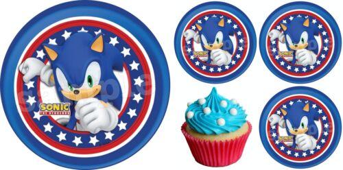 Sonic Hedgehog Eßbar Tortenaufleger Party Deko Geburtstag Muffin Cupcake Spiel
