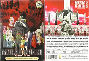 Mirai-Nikki-Future-Diary-DVD-COMPLETA-1-26-ENG-OVULI-ANIME-DVD-ship-from-USA