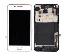 White LCD Display Touch Screen Digitizer with Frame For Samsung Galaxy S2 i9100