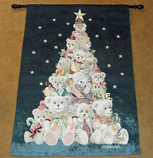 Partridge in a Bear Tree Christmas Tapestry Wall Hanging w/Lights