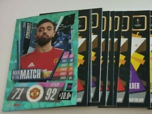 2020-21-Match-Attax-UEFA-Lot-of-20-cards-incl-Man-of-the-Match-Fernandes
