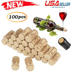100PCS Natural Cork Bungs Home Corks Wooden Wine//Beer Bottle Stoppers Bungs