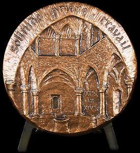 Medaille-Monastere-fortifie-de-l-039-abbaye-de-Lerins-l-039-ile-Saint-Honorat-1984-medal