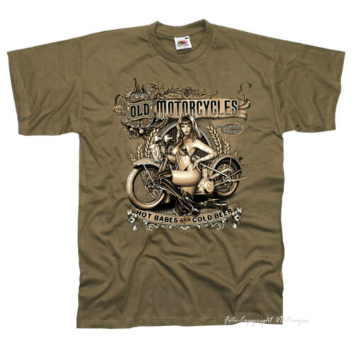 Biker T-Shirt Motorcycle Classic Car Vintage Design Old School Pinup 4007 Sd