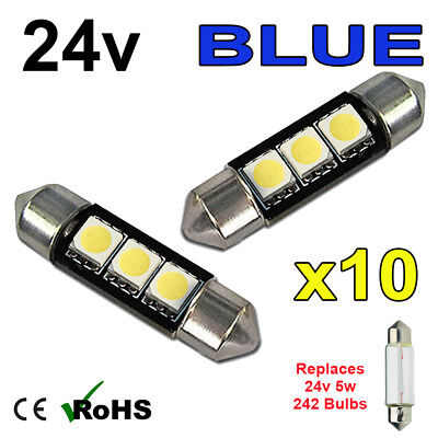 CITROEN 4SMD 41mm 42mm C10W 264 Canbus LED Car Interior Bulb Festoon WHITE Light