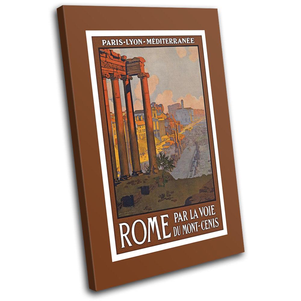 Rome Retro Travel World Illustration Illustration Illustration SINGLE TELA parete arte foto stampa f6c3f1