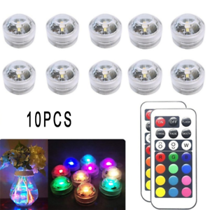 10PCS-RGB-Remote-Control-Colorful-Waterproof-LED-Candle-Light-Lamp-Underwater