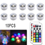 10PCS-RGB-Remote-Control-Colorful-Waterproof-LED-Candle-Light-Lamp-Underwater thumbnail 1