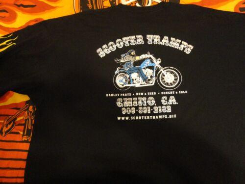 Short Sleeve w//Pocket 3X-Large Harley Genuine Scooter Tramps Black Beefy-T