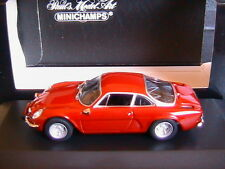 ALPINE RENAULT A110 1963-67 RED MINICHAMPS 430113602 1/43 ROSSO ROUGE ROT RHD