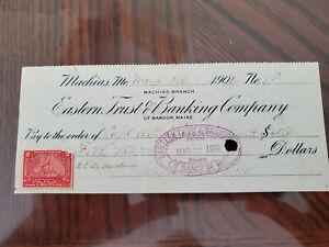 US Inter. Rev. # R164 Eastern Trust & Banking Co 1901 Check M&S Estate SM3887