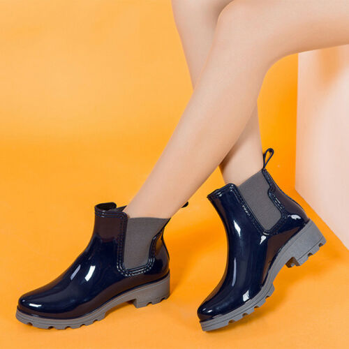 Women Boots Ankle Shoes S Size Booties Low Heels Chunky Mid Slip On Casual Block