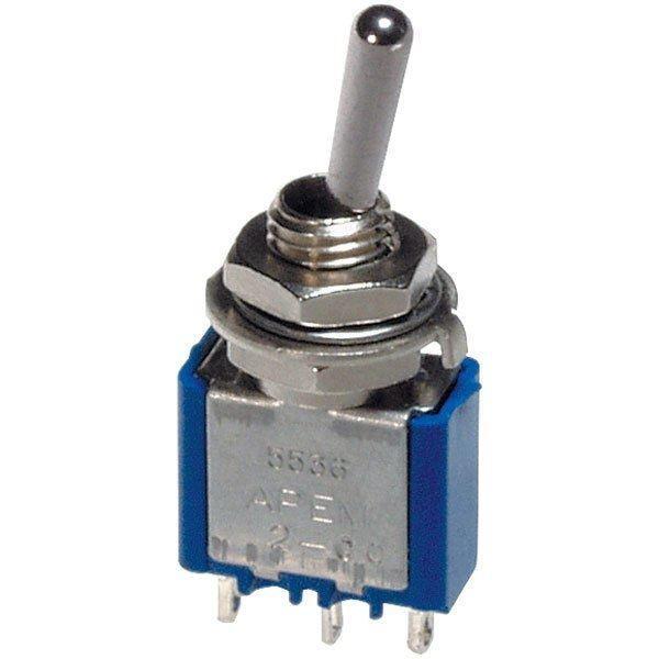 Kippschalter Miniatur Schalter 250V//3A EIN//AUS//EIN roter Isolierhülse Modellbau