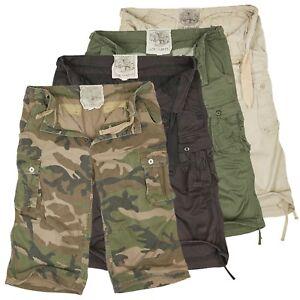 Urbandreamz-Herren-Air-Combat-3-4-Bermuda-Cargo-Shorts-Cargohose-Camouflage