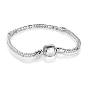 European-Charms-Bracelet-Bangle-Chain-Fit-Brand-Sterling-925-Silver-Charm-Beads
