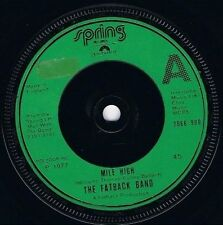 """THE FATBACK BAND Mile High 7"""" Single Vinyl Record 45rpm Spring 1977"""