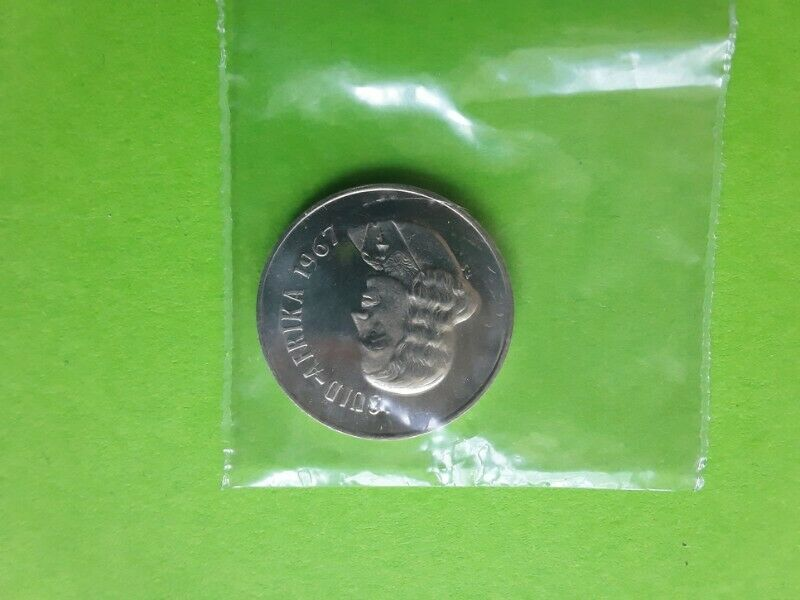 1967 alternate language proof afrikaans ten cent coin