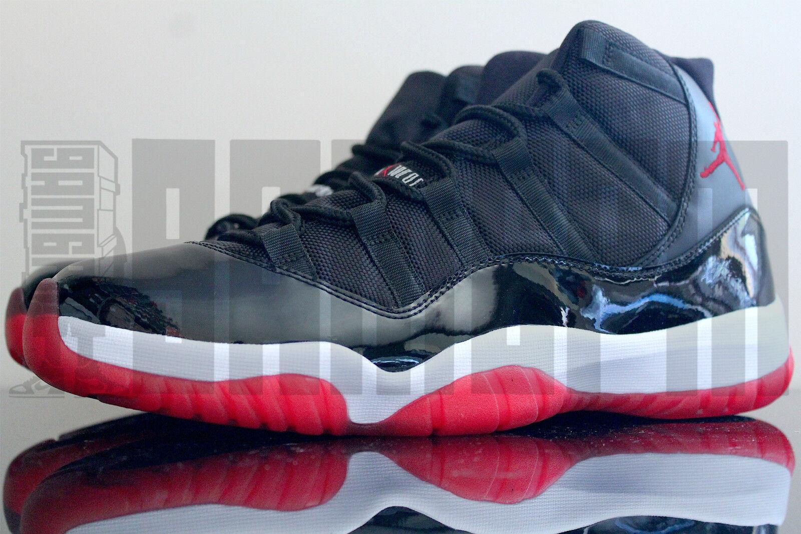 Nike air jordan 11 retrò allevati 8 9 10 11 12 rosso xi concord spacejam aj11 ds
