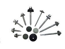"""100 x 22mm TEK cuciture autoperforanti metallo Roofing VITI 8mm (5/16 """") TESTA ESAGONALE"""