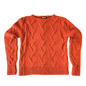 88bc6b643 Barbour Range Rover Response Knit Sweater Burnt Orange Womens US 6 ...