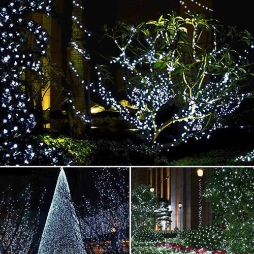 12M 100LED Solar Waterproof Wire String Fairy Light Strip Lamp Party 8 mode