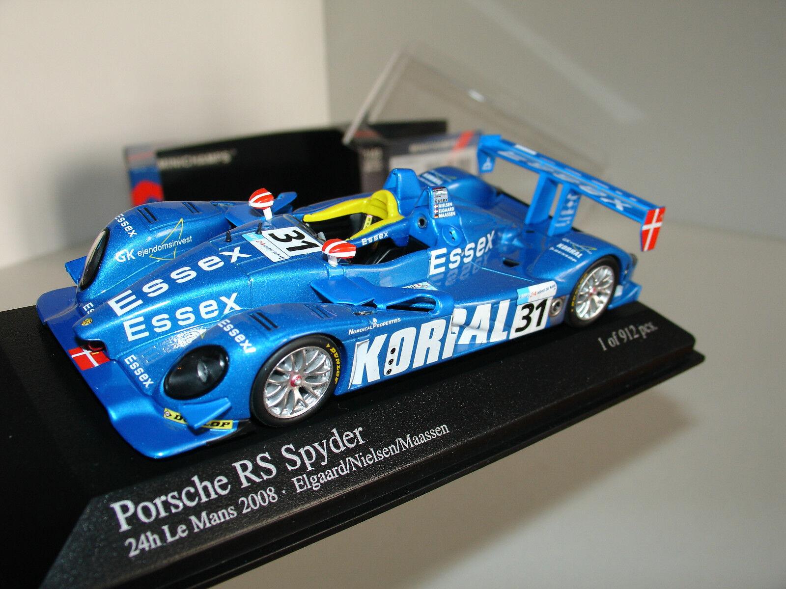 1 43 PORSCHE RS SPYDER h Le Mans 2008 LIMITED EDITION 912pcs by MINICHAMPS