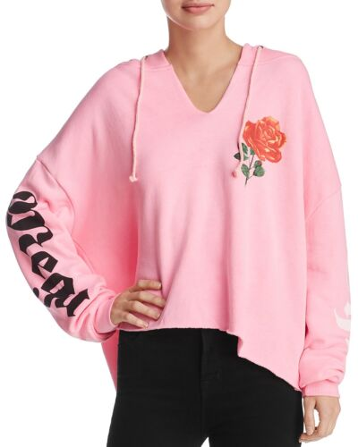 sweater Couture Mega Neonroze dames Hoodie Cropped Wildfox voor Freddy Chic 0xA6BwHqd
