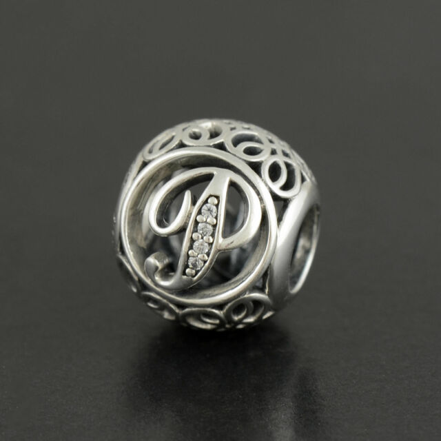 Genuine Authentic Pandora Charm Letter P  791860cz P