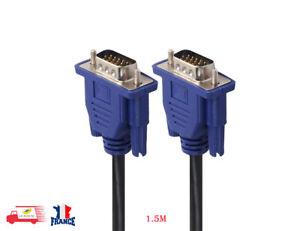 1-5M-15-Broches-DB15-SVGA-VGA-Cordon-Moniteur-male-a-male-cable-pour-PC-TV-DC