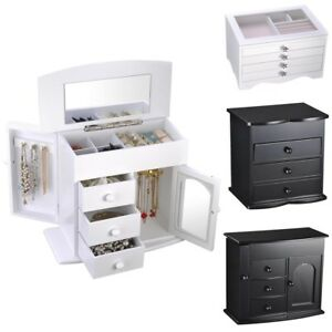 Jewelry-Storage-Box-Case-Built-in-Mirror-Watch-Ring-Earring-Necklace-Organizer