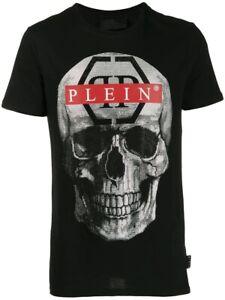Philipp-Plein-Platinum-Cut-Tee-Shirt-Size-S-M-L-Xl-2XL-Embellished-Skull