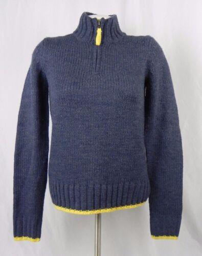 NEW Aeropostale Prince /& Fox Blue /& Yellow Half Zip Sweater F1-15