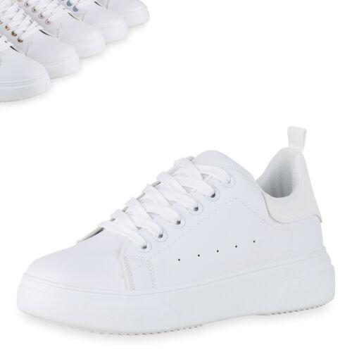 Damen Plateau Sneaker Prints Freizeitschuhe Schnürer Turnschuhe 899542 Top