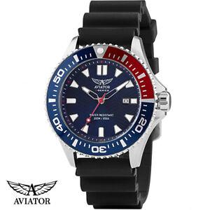 Aviator-AVW78341G351-F-Series-Special-Ops-Diver-Silikon-Armband-Uhr-Herren-NEU