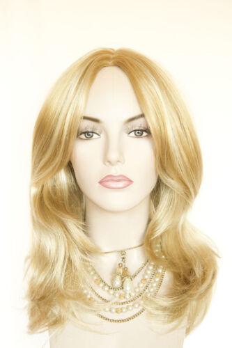 Golden Blonde Highlight Pale Blonde Blonde Long Medium Straight Wavy Monofilamen