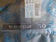 """TARGHETTA POSTERIORE """" VESPA 50 """" PER VESPA 50 R ORIGINALE"""