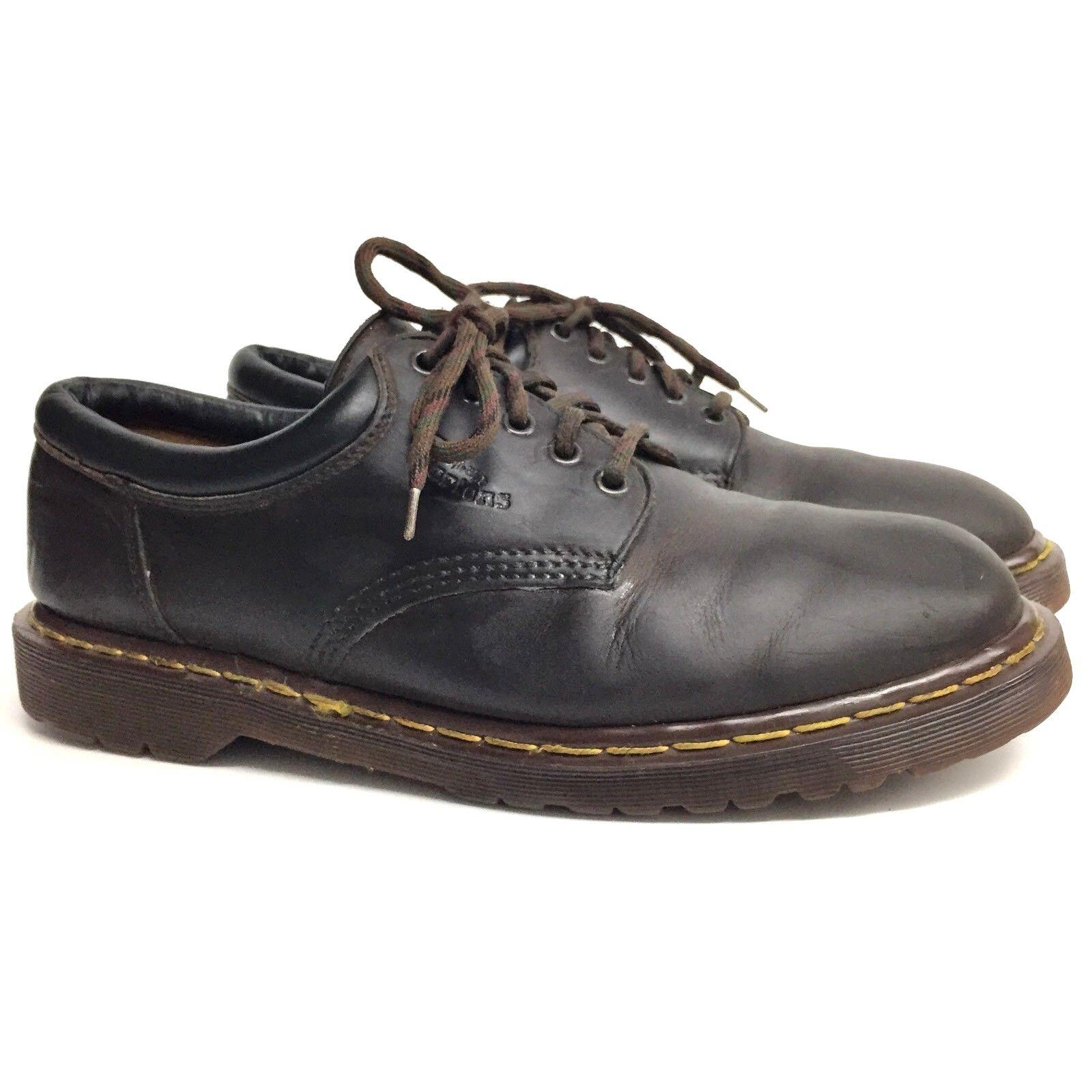 Dr Martens Men's UK 11 US 12 Original 8053 Brown Leather 5 Eye Lace Up ENGLAND