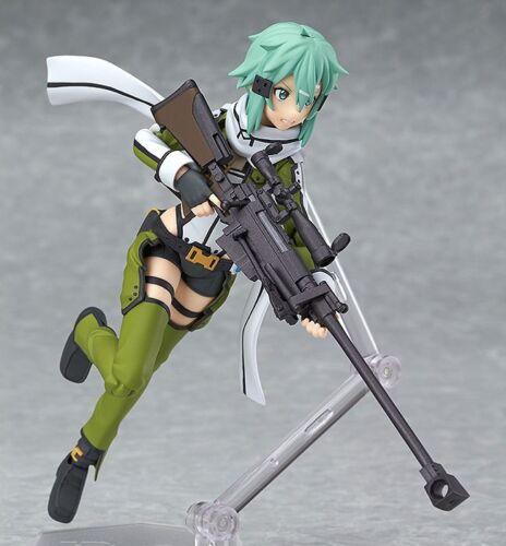 "Anime Sword Art Online II Asada Shino Sinon 6/"" Figma PVC Figure 241 New with Box"
