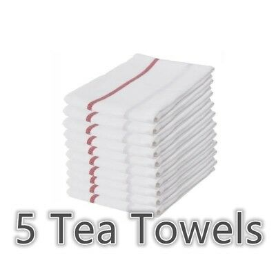 IKEA TEKLA 100/% Cotton Kitchen Tea Towels Dishcloth Red//White 50 x 65cm 10 Pack