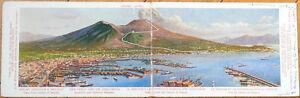 1910-Double-View-Eremo-Hotel-Ad-Postcard-Vesuvius-Railway-Napoli-Naples-Italy