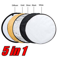 80cm 32 5-in-1 Photo Photography Studio Light Collapsible Reflector + Case on sale