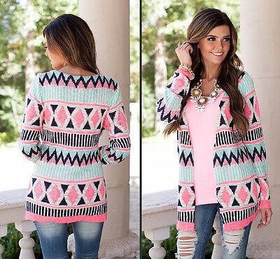Fashion Women's Long Sleeve Knitwear long Cardigan Outwear Jacket Coat Sweater