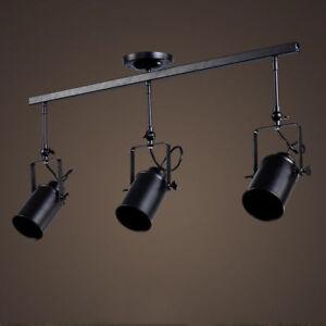 Details About Retro Ceiling Fixture Stage Spotlight Track Lighting Edison Loft Lamp