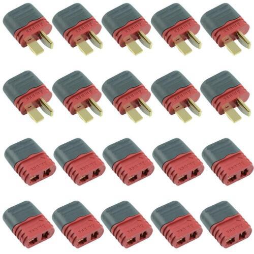 Buchse T-Stecker Anschluss mit Kappe 36A Amass 10 Paar Stecker