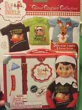 The Elf on the Shelf: Clothing 3 Pack Tee Shirt + Case Set for Boy or Girl Elf