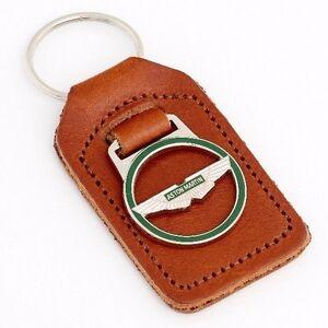 Genuine-Aston-Martin-Tan-Leather-Key-Fob-P-No-692176