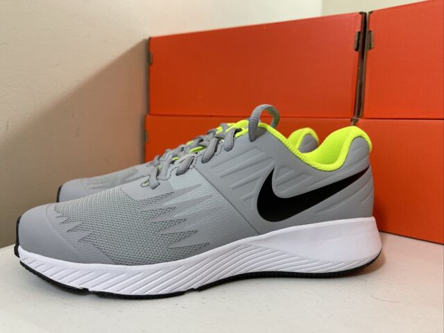 Youth Nike Star Runner Grade School Running Shoes Grey/Volt 907254-002 SIZE 7Y